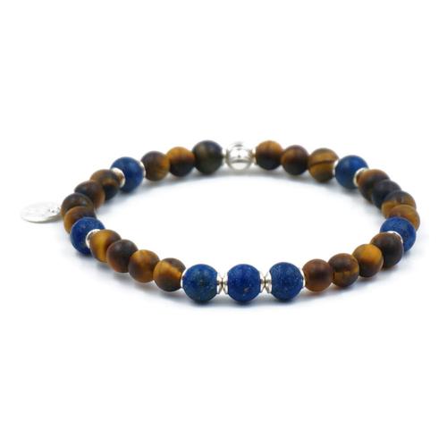 Bracelet-Œil de Tigre-Lapiz-Lazuli
