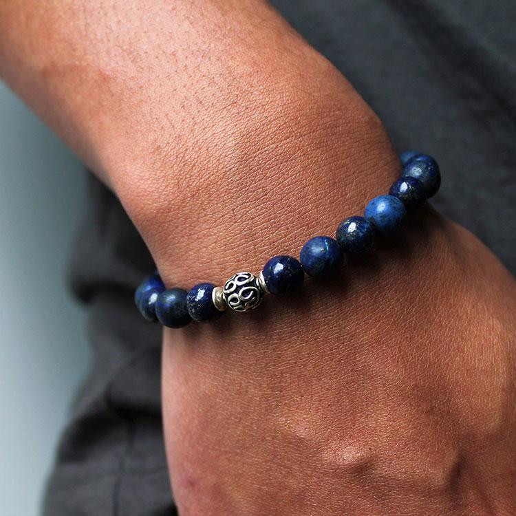 Bracelet-lapis-lazuli-argent